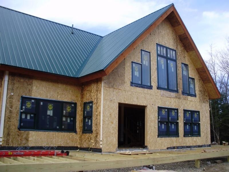 Timber frame exterior in progress
