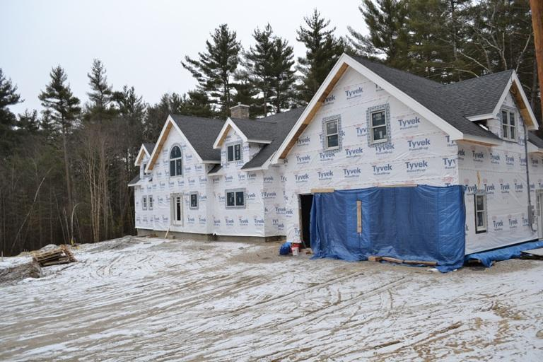 Finished timber frame cape exterior