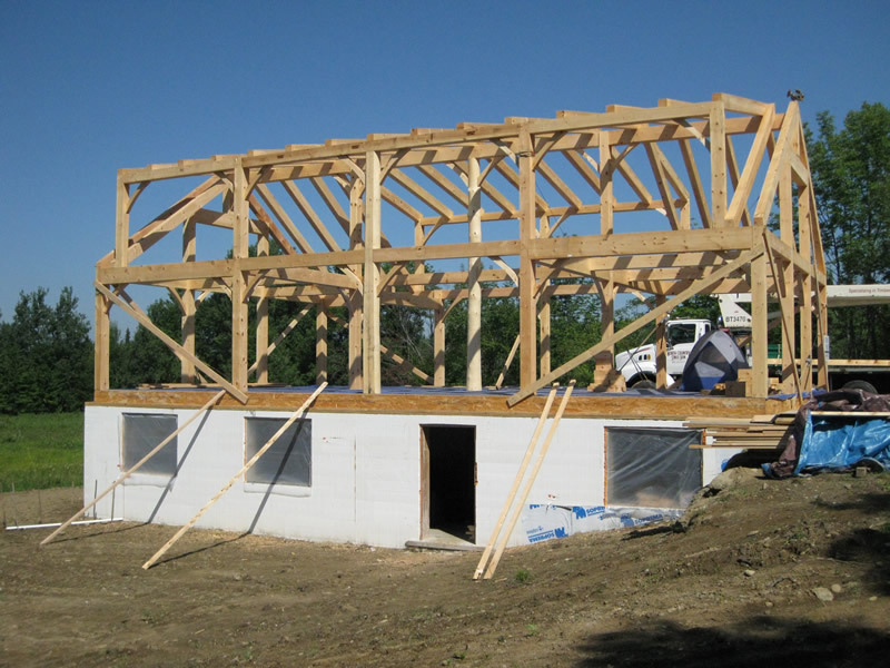 Timber frame custom cape structure