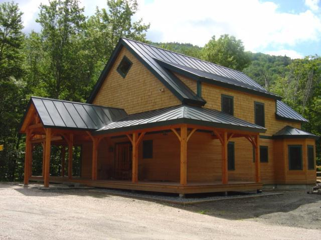 Timber Frame Cape in Bridgewater, VT